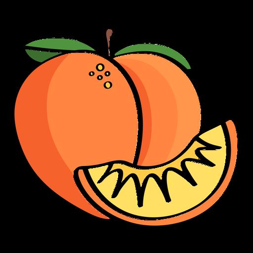 Peaches color stroke