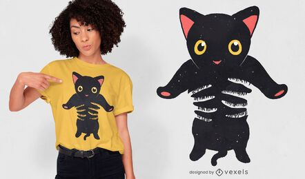 Black kitty being held t-shirt design