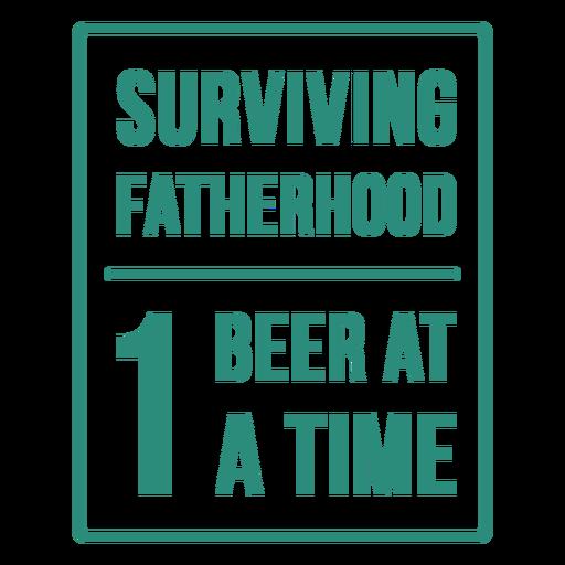 Surviving parenthood funny quote flat