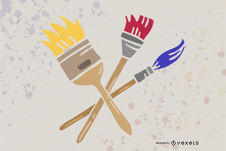 Paint Brush Design