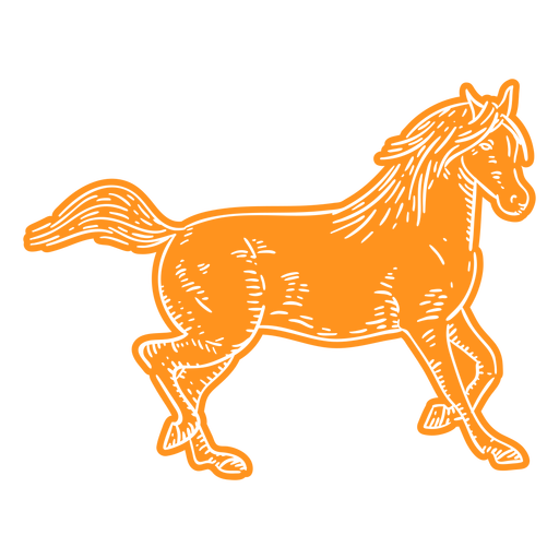 Horse galloping cut out