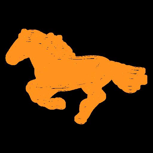 Horse running cut out