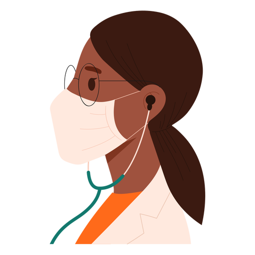 Doctor with mask flat