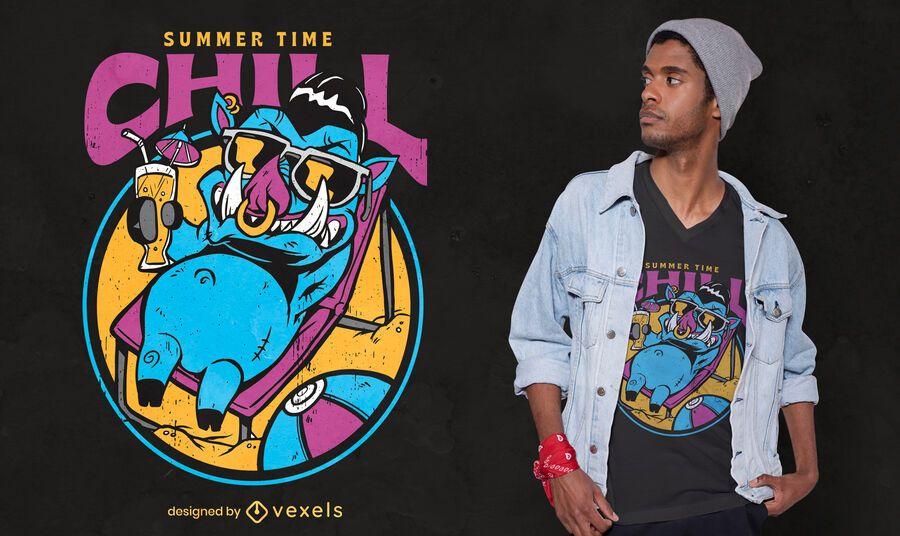 Boar animal chilling t-shirt design