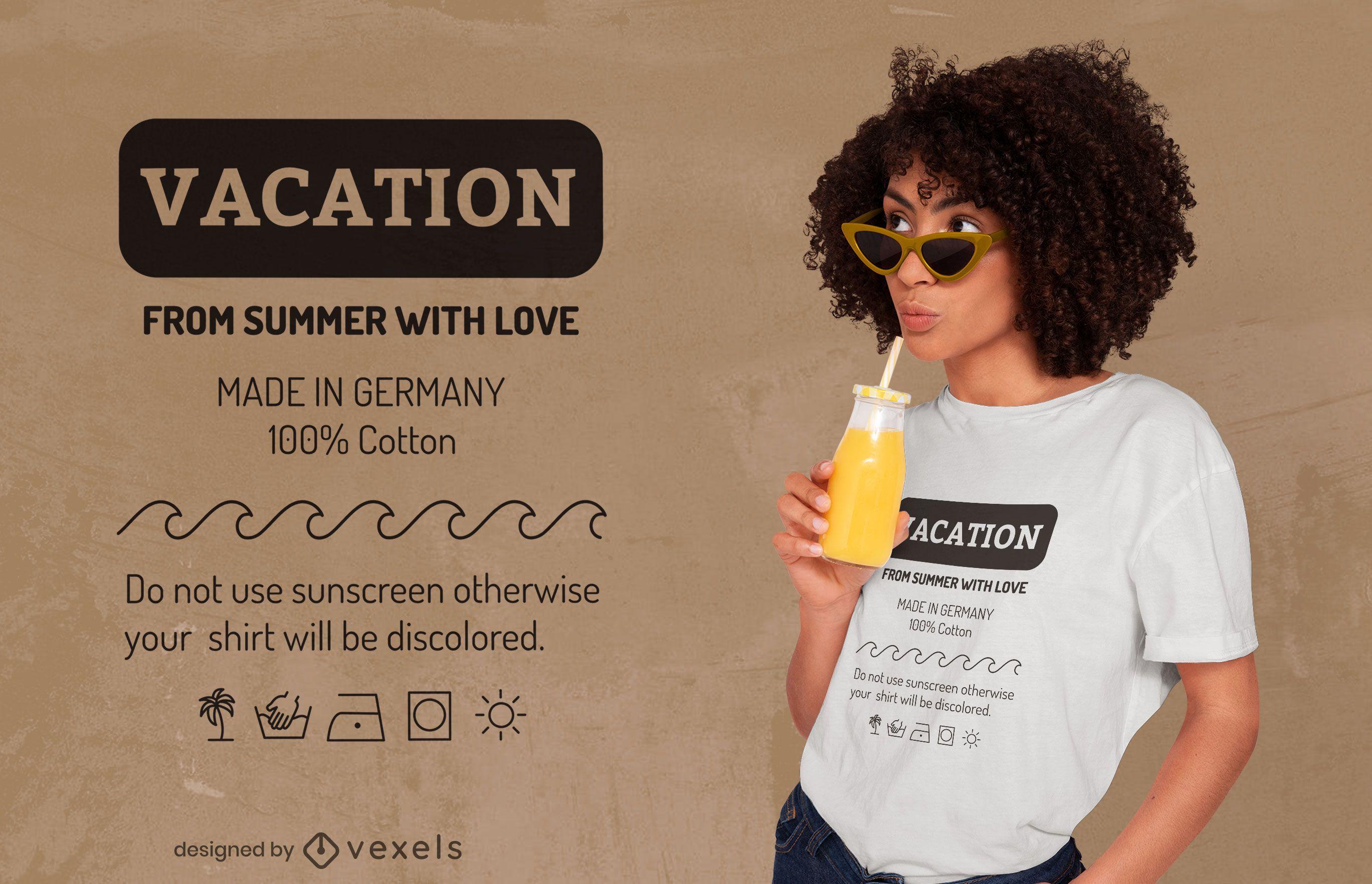 Vacation summer funny tag t-shirt design