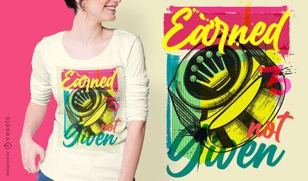 Design de t-shirt de graffiti urbano com coroa circular