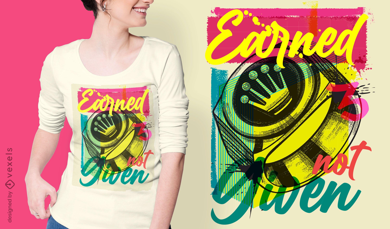 Anillo corona diseño de camiseta de graffiti urbano.