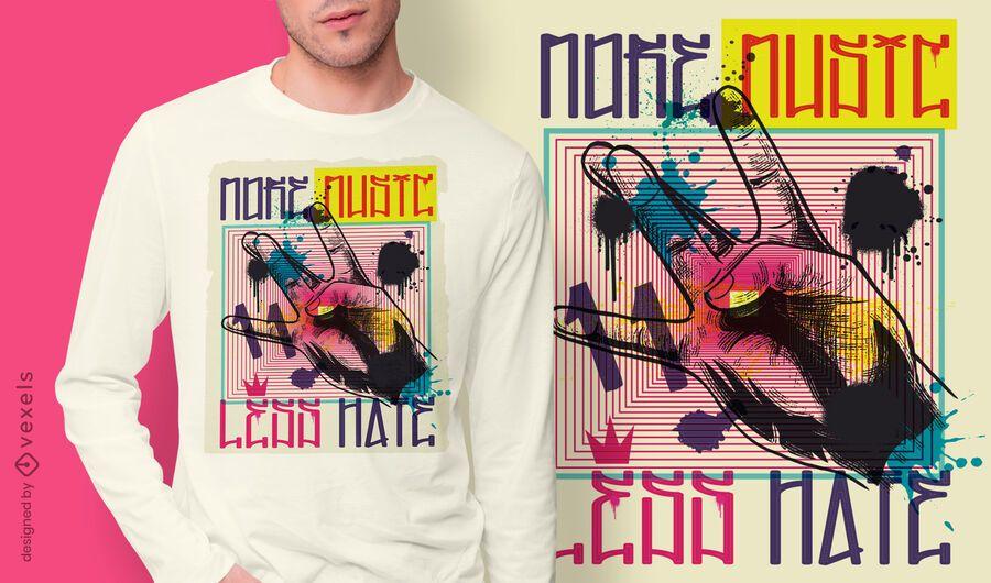 Hand gesture urban graffiti t-shirt design