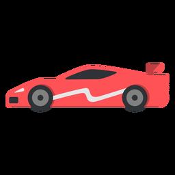Red race car model flat