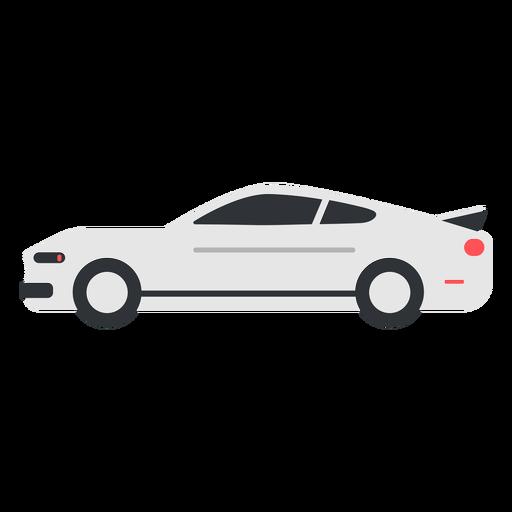 White modern car flat