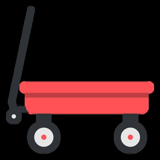 Red kid's cart semi flat