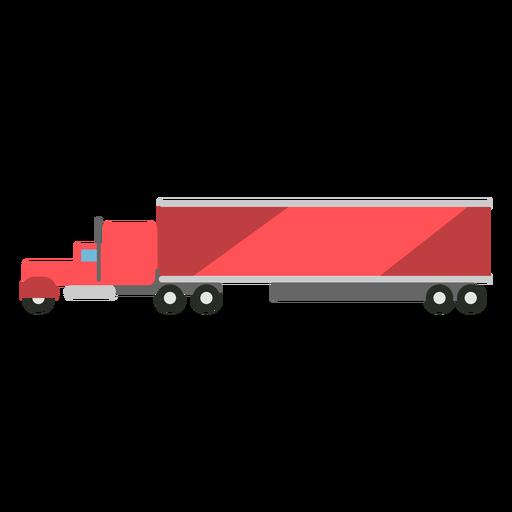 Large truck semi flat