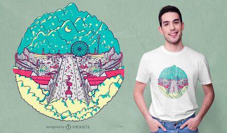 Diseño de camiseta de carnaval festivo.