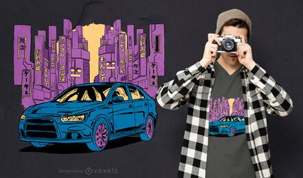 Japanese car t-shirt design