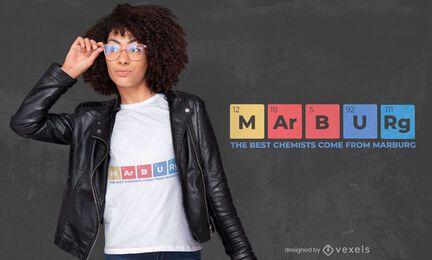 Químicos de marburg design de camisetas