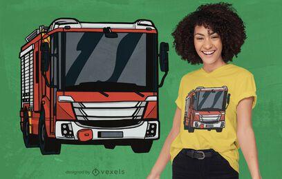 Design de camiseta de caminhão de bombeiros