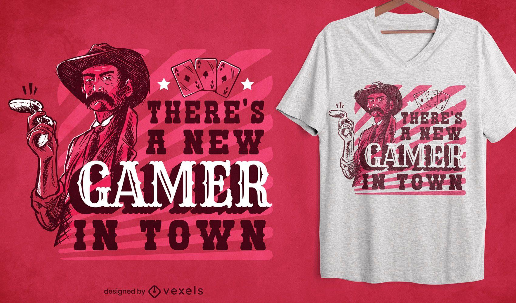 Nuevo diseño de camiseta de jugador en la ciudad.