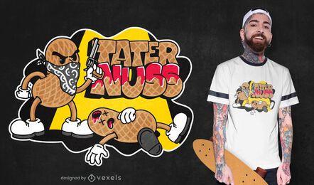 Design de camiseta assassina de amendoim