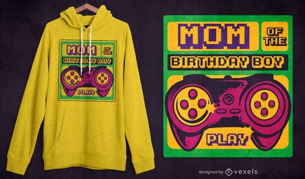 Birthday boy mom t-shirt design