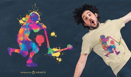 Design colorido de camisetas kickscooter