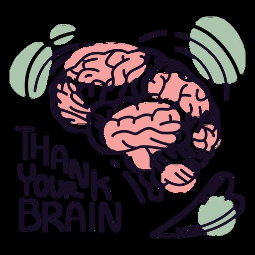Thank you brain badge