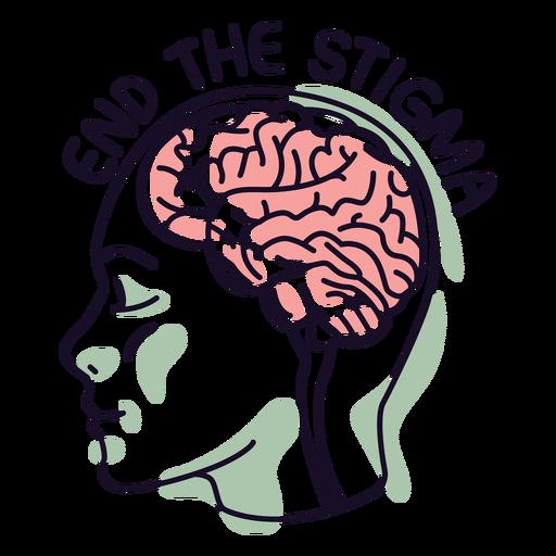 Mental health stigma color stroke