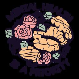 Mental health is priority badge