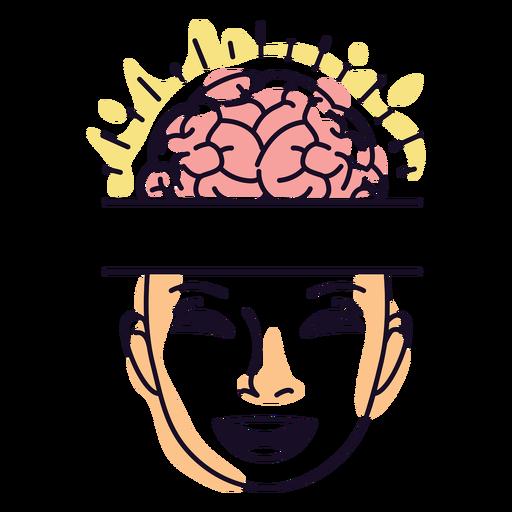 Happy mind color stroke