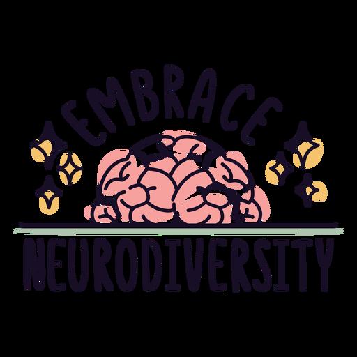 Embrace neurodiversity badge