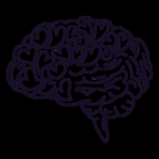 Brain with love hearts stroke