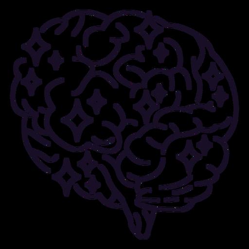 Brain sparkle stroke