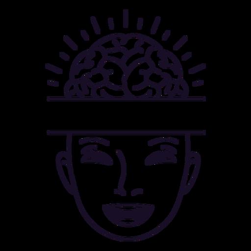 Happy mind stroke