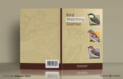 Design da capa do jornal de observação de pássaros