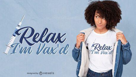 Vacina citação covid design de t-shirt