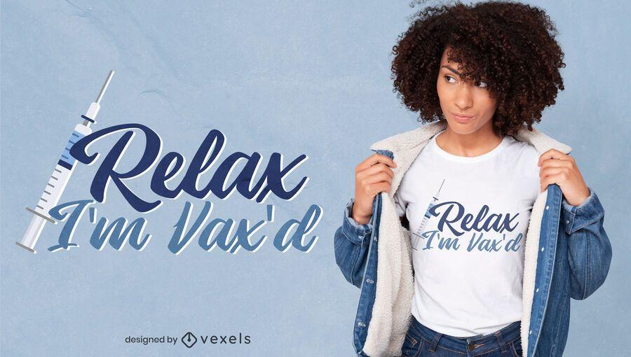 Diseño de camiseta de cita de vacuna covid