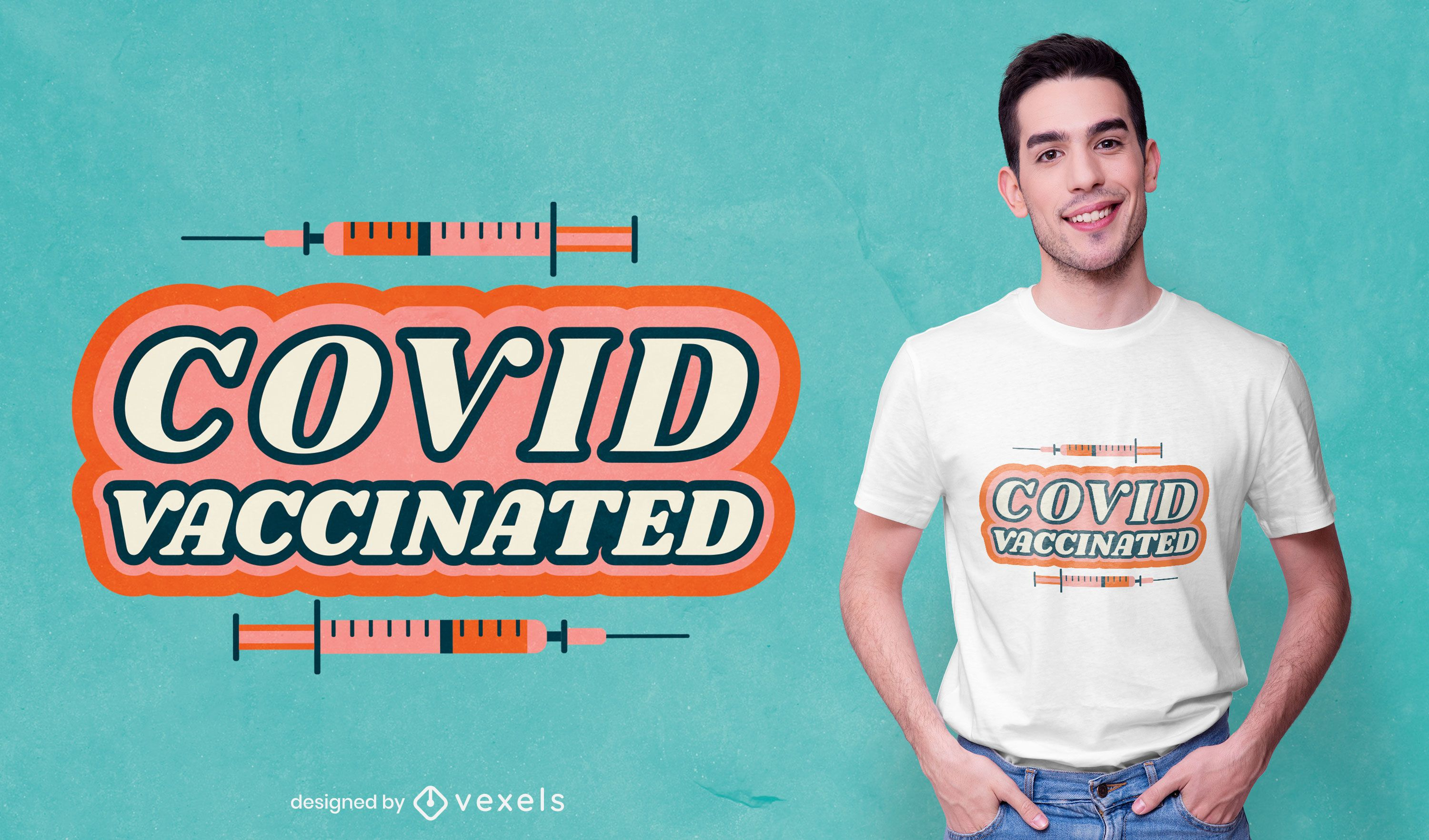 Covid vaccinated t-shirt design