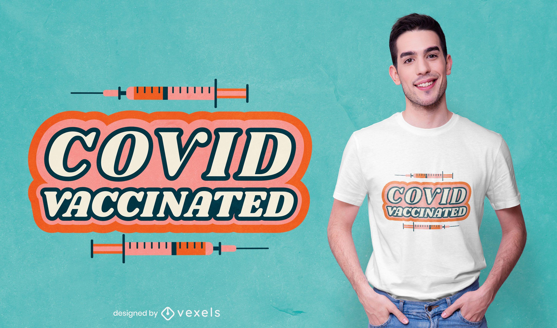Diseño de camiseta vacunado por Covid