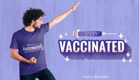 Design de camiseta com vacina da Covid 19