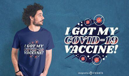 Diseño de camiseta vacunado