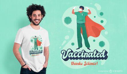 Diseño de camiseta con cita de vacunación de Covid 19