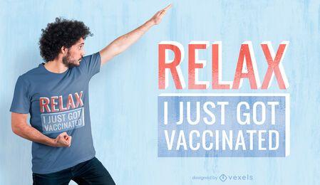 Just got vaccinated t-shirt design
