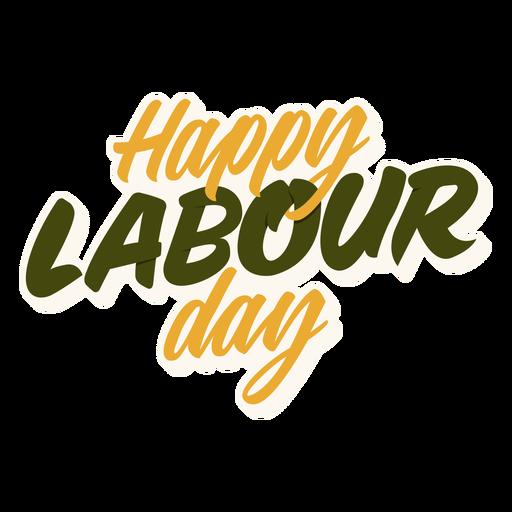 Happy labour day quote semi flat