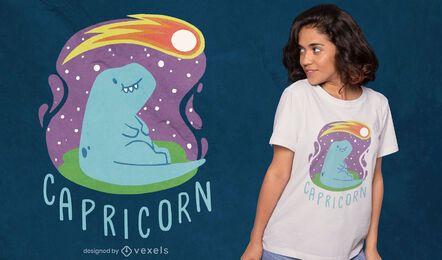 Design de camiseta de Dinossauro Signo do Zodíaco Capricórnio