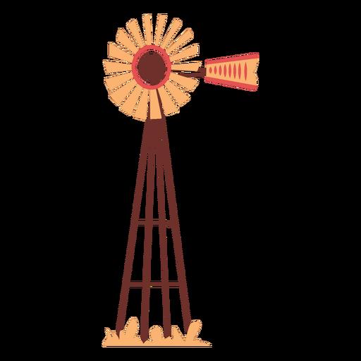 Farm windmill flat