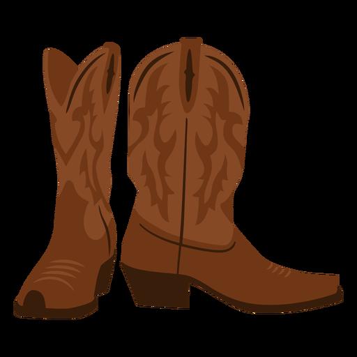 Cowboy boots flat