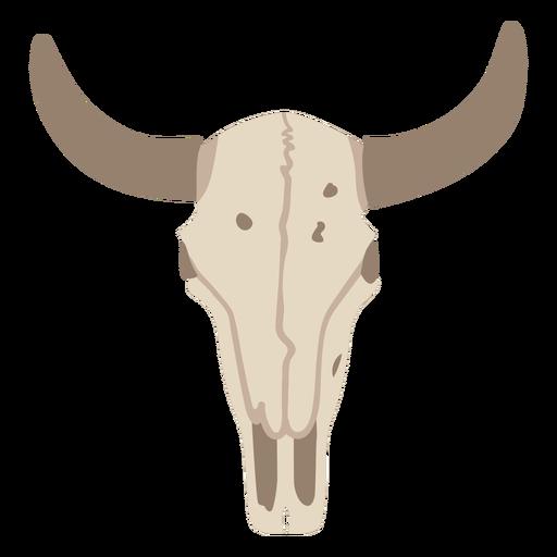 Bull skull flat