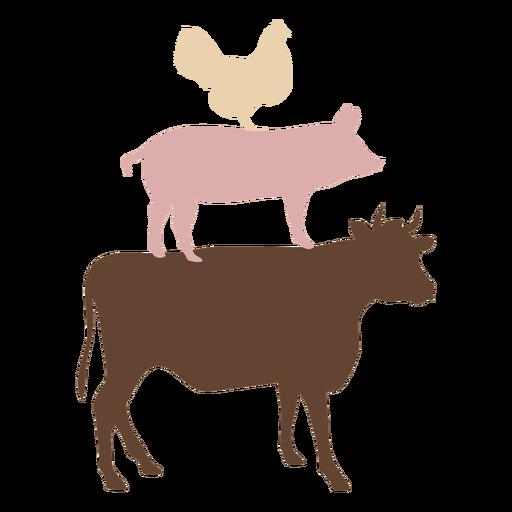 Farm animals flat