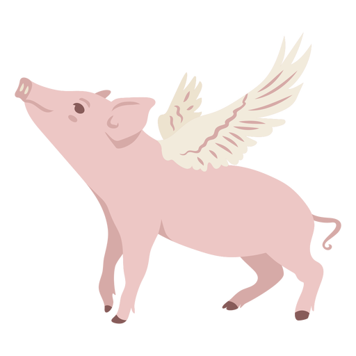 Pig with wings flat