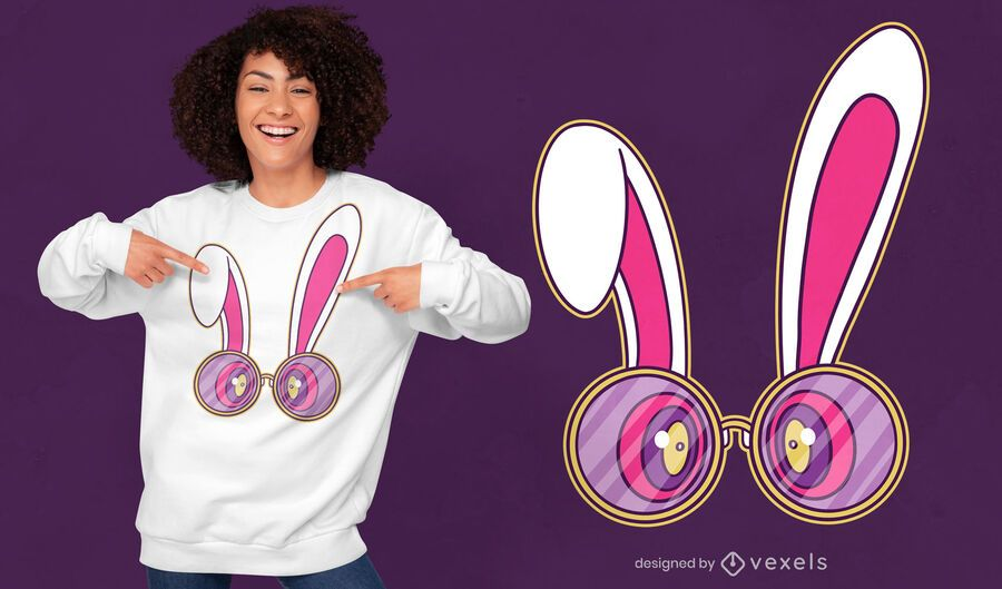 Trippy rabbit glasses t-shirt design