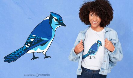 Blue jay bird species t-shirt design